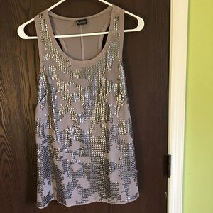 Sparkle & Fade racer back sequin tank